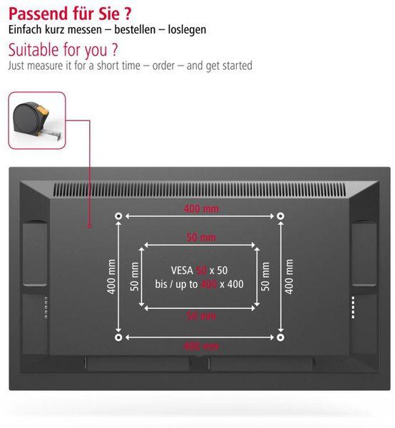 """Wandhalterung HAMA FIX, 142 cm (56""""), Schwarz - Produktbild 6"""