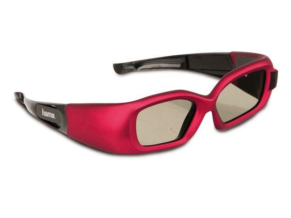 3D Shutterbrille für SAMSUNG-TVs HAMA 95563, rot - Produktbild 1