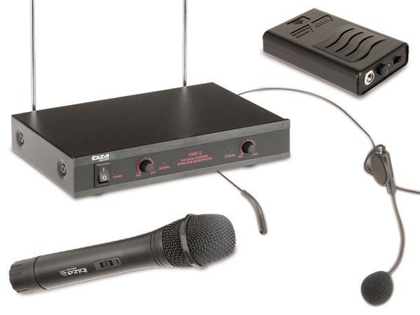 Funk-Mikrofon-Bundle IBIZA VHF2H - Produktbild 1