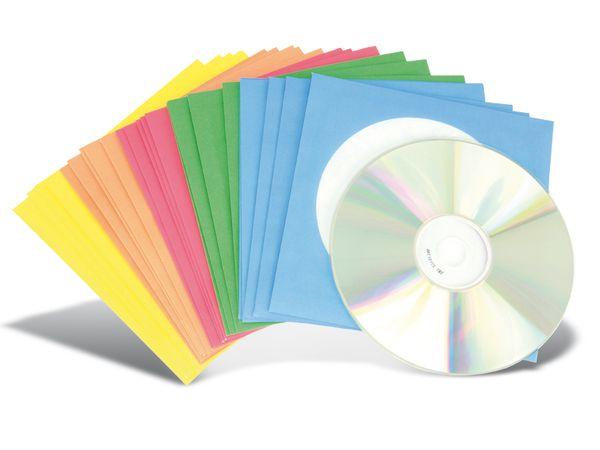 CD-/DVD-Papierhüllen, farbig, 25 Stück