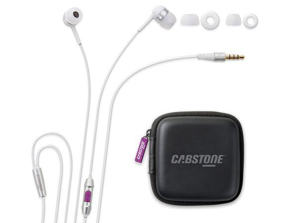 Headset mit Fernbedienung CABSTONE DailyTunes, weiß - Produktbild 1