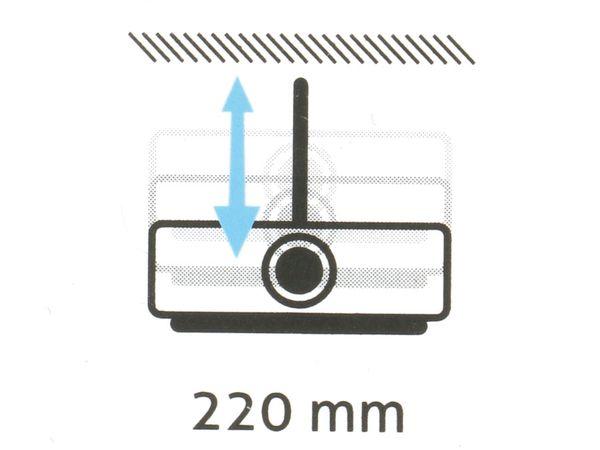 Beamer-Deckenhalterung PUREMOUNTS PM-Spider-Plus, 180...310mm, weiß - Produktbild 4