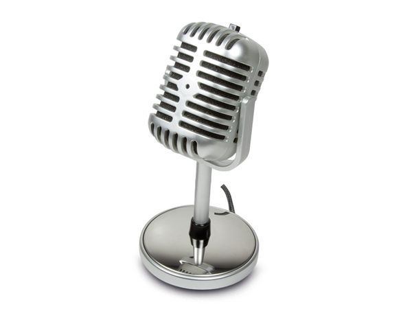 Computer-Mikrofon LOGILINK HS0036, Retro