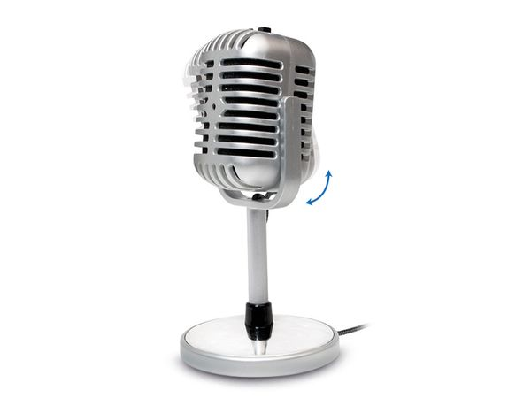 Computer-Mikrofon LOGILINK HS0036, Retro - Produktbild 2