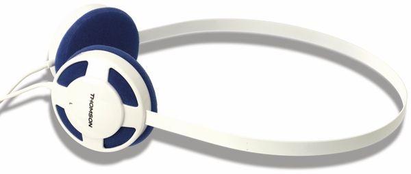 Stereo-Kopfhörer THOMSON HED1112W/BL, weiß/blau - Produktbild 1