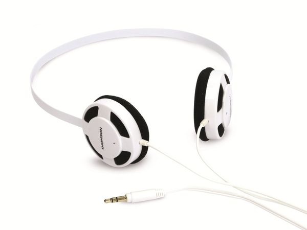 Stereo-Kopfhörer THOMSON HED1112W/BL, weiß/schwarz