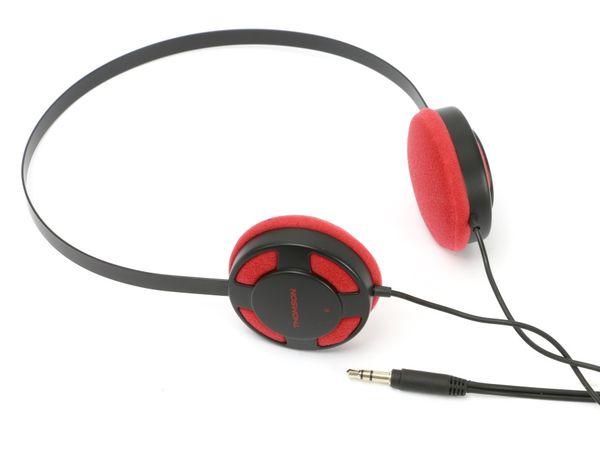 Stereo-Kopfhörer THOMSON HED1112W/BL, rot/schwarz - Produktbild 1