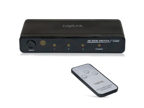 4K HDMI-Umschalter LOGILINK HD0012, 3-port