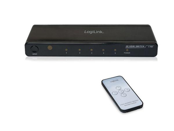 4K HDMI-Umschalter LOGILINK HD0013, 5-port