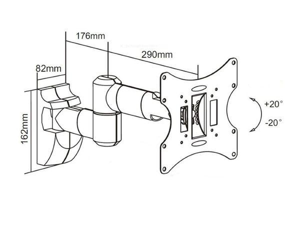 TV-Wandhalter PUREMOUNTS PM-LM-TS32E, max. VESA 200x200 mm - Produktbild 2