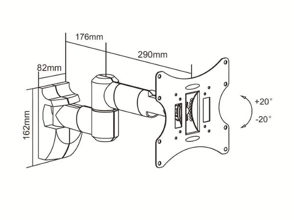 TV-Wandhalter PUREMOUNTS PM-LM-TS32EB, max. VESA 200x200 mm - Produktbild 2