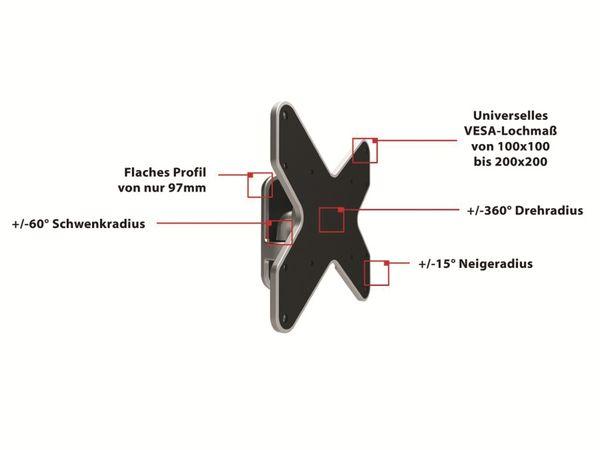 TV-Wandhalter PUREMOUNTS PM-Style-37A, max. VESA 200x200 mm - Produktbild 2