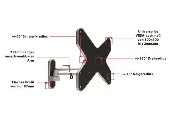 LCD/Plasma-Wandhalter PUREMOUNTS PM-Style-37B, max. VESA 200x200 mm - Produktbild 2