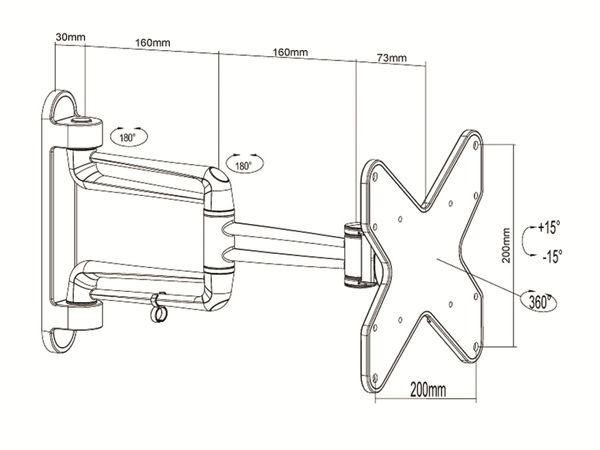 TV-Wandhalter PUREMOUNTS PM-Style-37C, max. VESA 200x200 mm - Produktbild 3