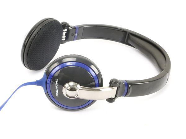 On-Ear Kopfhörer THOMSON HED2041, schwarz/blau - Produktbild 1