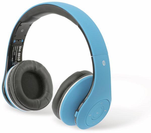 Bluetooth-Kopfhörer BM-8810, blau, B-Ware - Produktbild 1