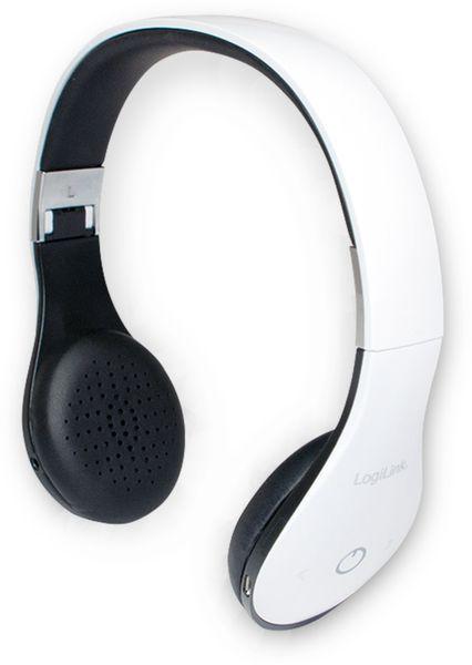 Bluetooth Stereo Headset LogiLink weiß faltbar BT0038 - Produktbild 1