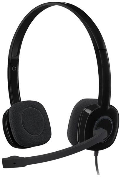 Stereo-Headset LOGITECH H151, 3,5 mm Klinke - Produktbild 1