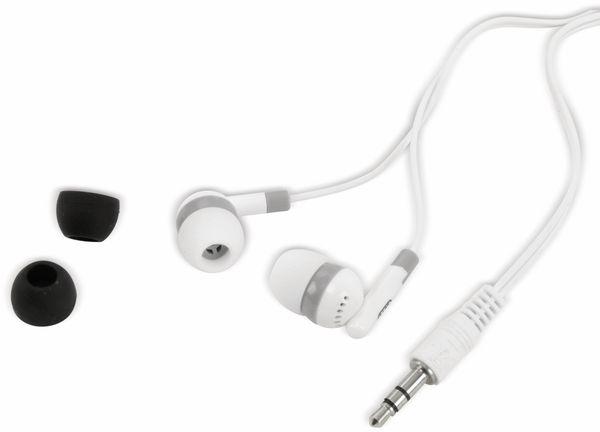 Kopfhörer, Stereo, weiß/grau