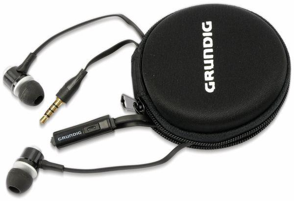 In-Ear Headset mit Flachkabel GRUNDIG 86351, schwarz