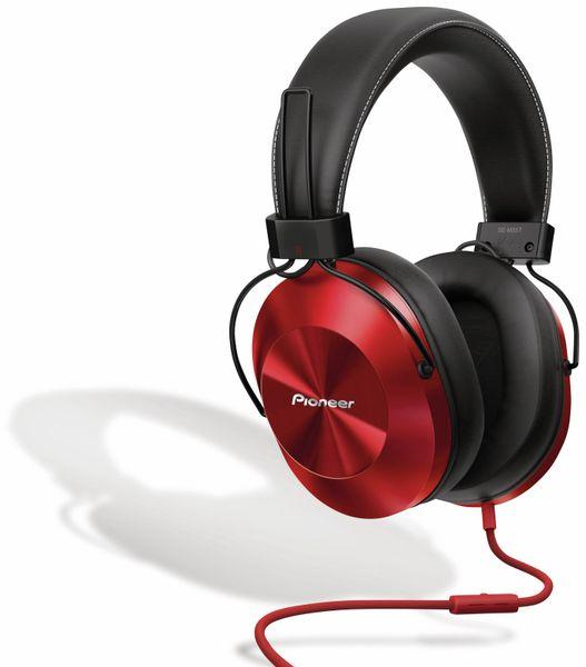 Over-Ear Kopfhörer Pioneer SE-MS5T, rot, Hi-Ress, Mikrofon