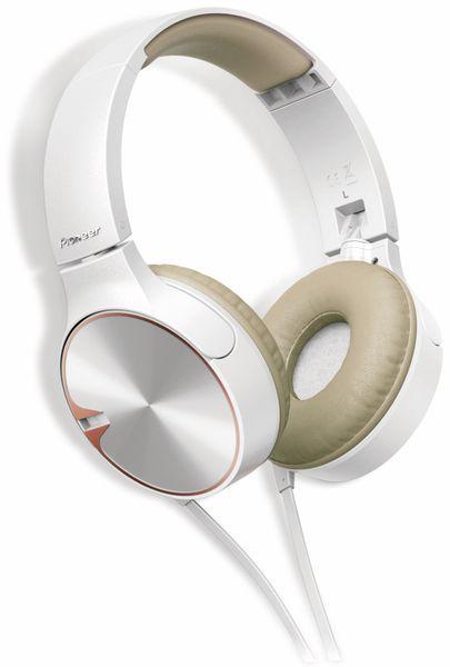 On-Ear Kopfhörer Pioneer SE-MJ722T, weiß/braun, Mikrofon