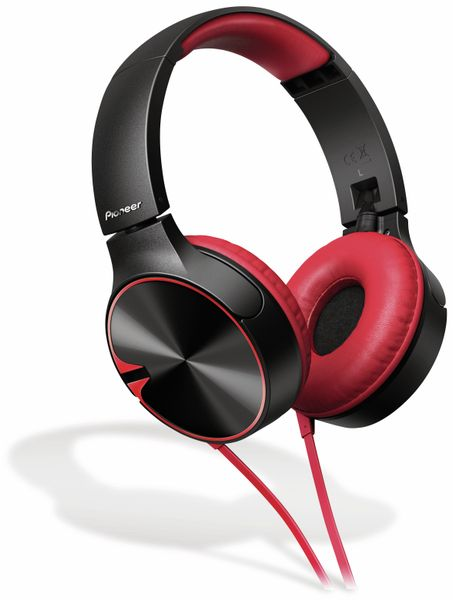 On-Ear Kopfhörer Pioneer SE-MJ722T, rot, Mikrofon - Produktbild 1