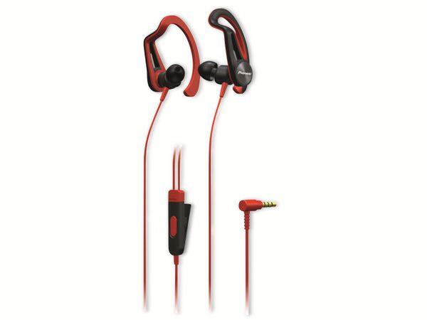 In-Ear Sport-Ohrhörer Pioneer SE-E5T-R, rot, Mikrofon