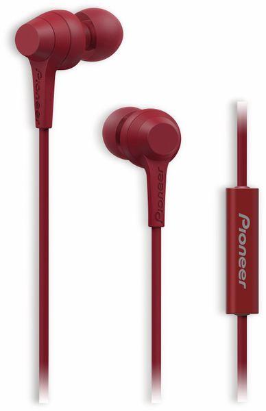 In-Ear-Ohrhörer Pioneer SE-C1T, rot, Mikrofon