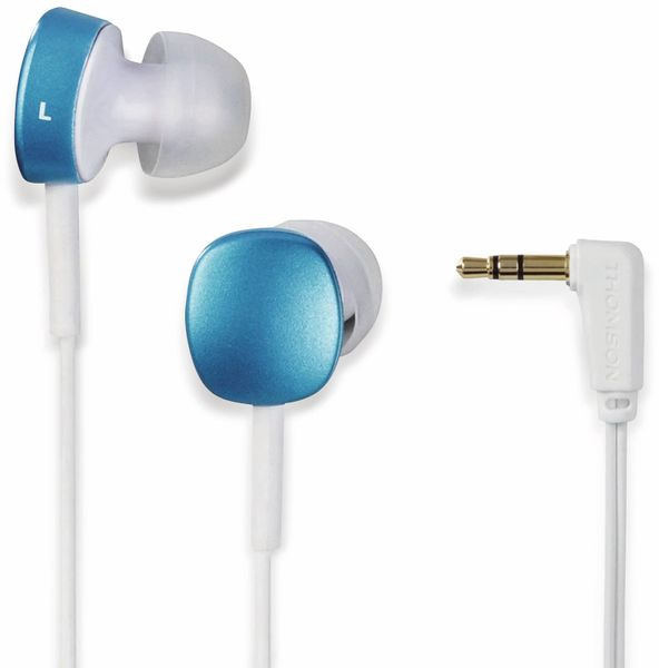 In-Ear Ohrhörer THOMSON EAR3056WB, blau/weiß