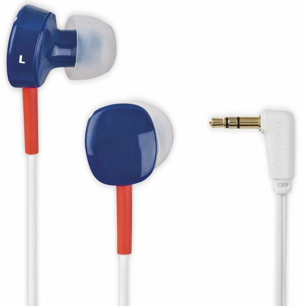 In-Ear Ohrhörer THOMSON EAR3056BRW, blau/weiß/rot