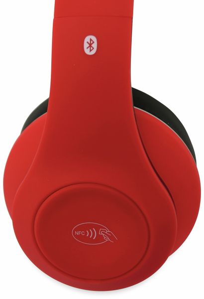 Bluetooth Headset, BKH, rot, B-Ware - Produktbild 3