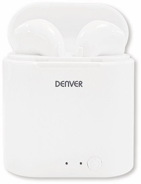 In-Ear Ohrhörer DENVER TWQ-40, weiß, mit QI-Ladefunktion - Produktbild 2