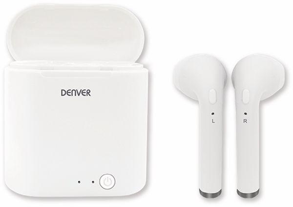 In-Ear Ohrhörer DENVER TWQ-40, weiß, mit QI-Ladefunktion - Produktbild 3