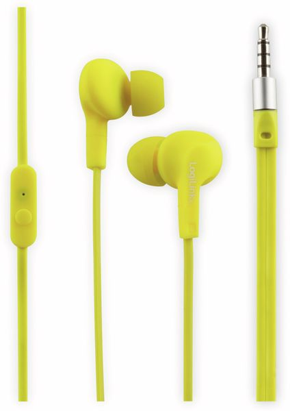 In-Ear Ohrhörer LOGILINK HS0043, gelb, wassergeschützt (IPX6)