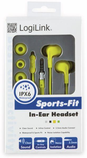 In-Ear Ohrhörer LOGILINK HS0043, gelb, wassergeschützt (IPX6) - Produktbild 3
