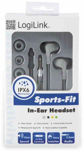 In-Ear Ohrhörer LOGILINK HS0041, grau, wassergeschützt (IPX6) - Produktbild 3