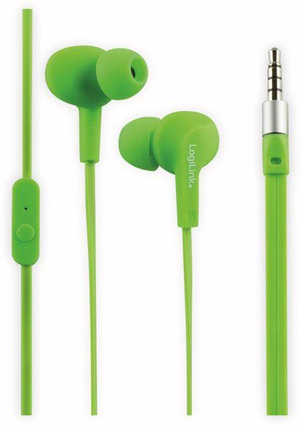In-Ear Ohrhörer LOGILINK HS0044, grün, wassergeschützt (IPX6)