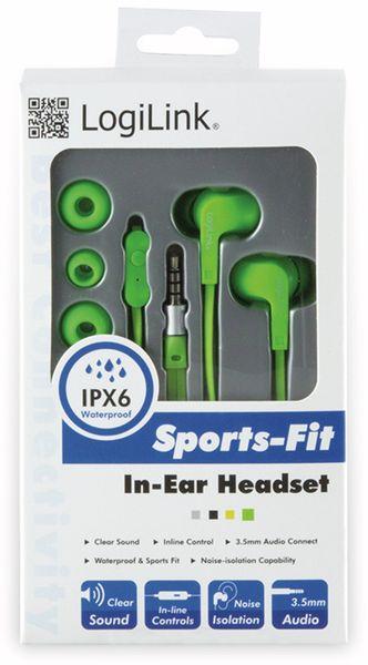 In-Ear Ohrhörer LOGILINK HS0044, grün, wassergeschützt (IPX6) - Produktbild 4