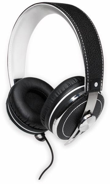 Over-Ear Kopfhörer TYPHOON RockStar TM033, schwarz/weiß