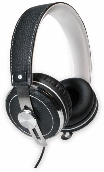 Over-Ear Kopfhörer TYPHOON RockStar TM033, schwarz/weiß - Produktbild 2