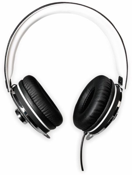 Over-Ear Kopfhörer TYPHOON RockStar TM033, schwarz/weiß - Produktbild 5