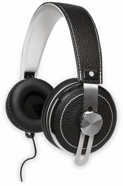 Over-Ear Kopfhörer TYPHOON RockStar TM033, schwarz/weiß - Produktbild 7