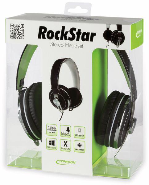 Over-Ear Kopfhörer TYPHOON RockStar TM033, schwarz/weiß - Produktbild 8