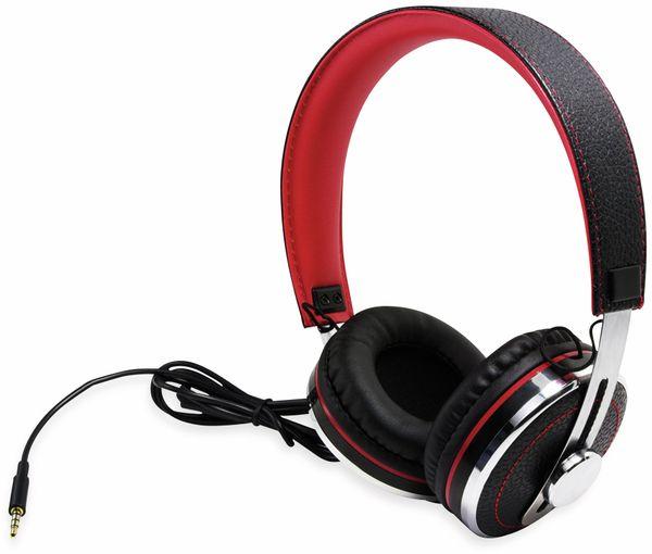 Over-Ear Kopfhörer TYPHOON RockStar TM028, schwarz/rot