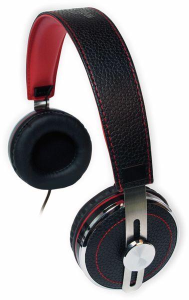 Over-Ear Kopfhörer TYPHOON RockStar TM028, schwarz/rot - Produktbild 10