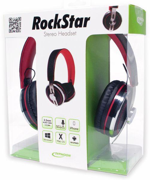 Over-Ear Kopfhörer TYPHOON RockStar TM028, schwarz/rot - Produktbild 11