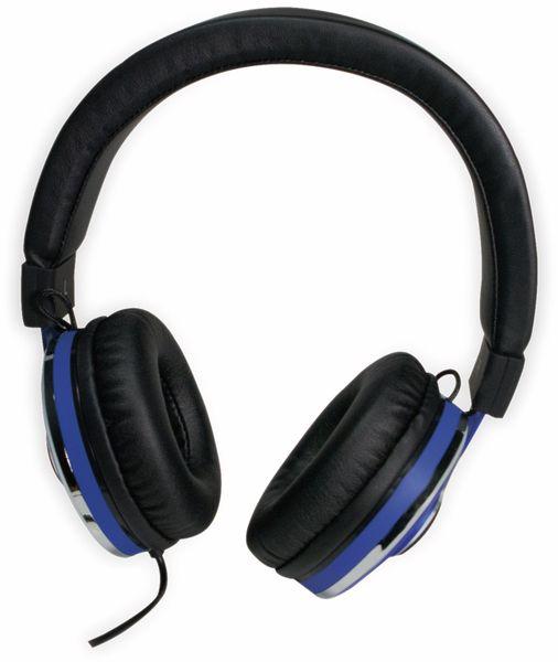 Over-Ear Kopfhörer LOGILINK HS0040, schwarz/blau - Produktbild 3
