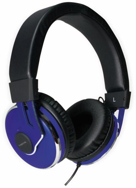 Over-Ear Kopfhörer LOGILINK HS0040, schwarz/blau - Produktbild 6