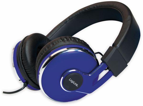 Over-Ear Kopfhörer LOGILINK HS0040, schwarz/blau - Produktbild 7